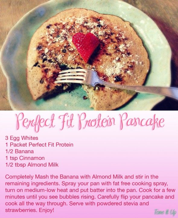 Tone It Up is Celebrating National PANCAKE Day! Here's some tips and tricks to make your protein pancake perfect every time, with Perfect Fit of course! www.toneitup.com