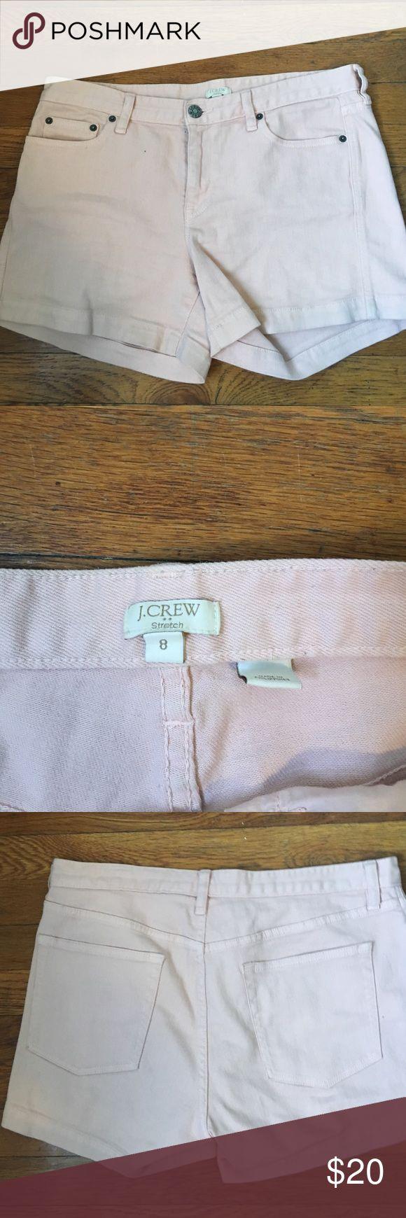 Light pink shorts Light pink shorts fit high waisted J. Crew Shorts Jean Shorts