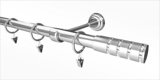 Karnisz Metalowy Rzymski 16mm Berło antyk mosiądz