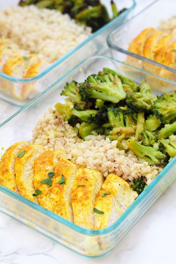Anti-inflammatory Turmeric Chicken Meal Prep Bowls – Anthony Morgen