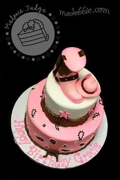 cowgirl cake | Pink & Brown Cowgirl Cake
