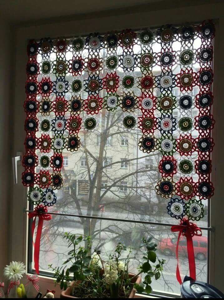 17 Best images about Curtains and tie backs to crochet on ...