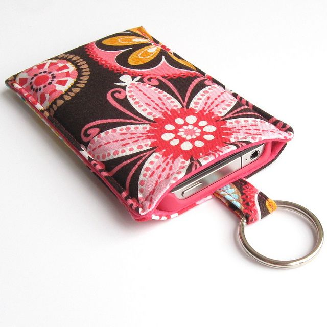 nähen - Tasche Handy - Easy iPhone Sleeve Tutorial