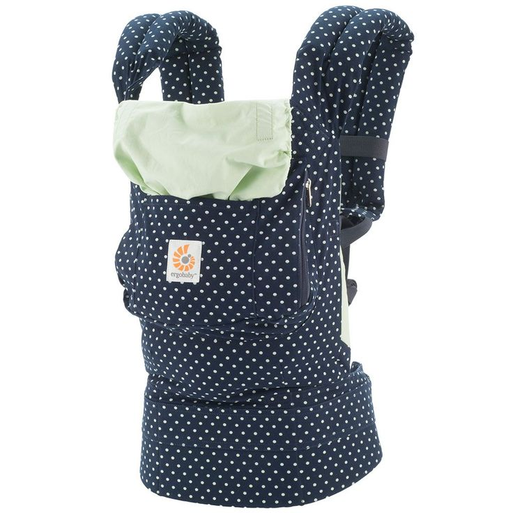 Vacationing with a baby? The @Ergobaby will be your best friend! How darling is this mini-dot pattern?! #AwayWeGo