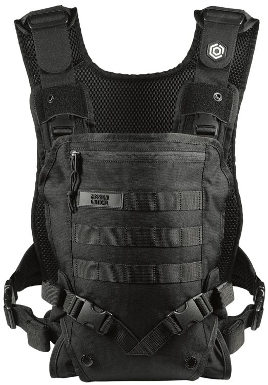 A baby carrier that looks like a tactical vest. Because being a dad just isn't already awesome enough. Made by Mission Critical. http://www.missioncritical.cc/products/babycarrier?variant=887910315