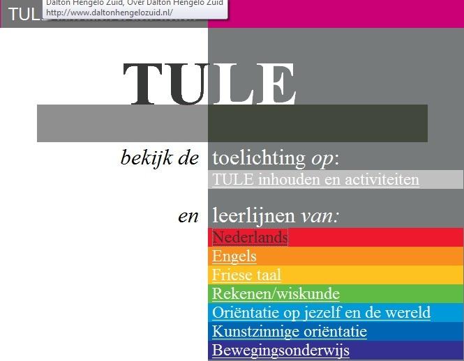 http://tule.slo.nl/ Leerlijnen voor het Basisonderwijs