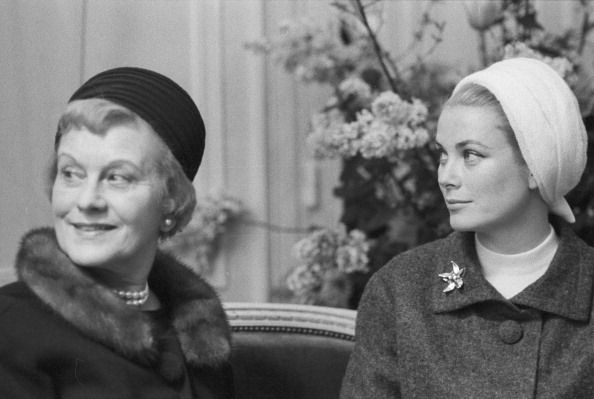 Princess Grace and her mother, Mrs. John B. Kelly (née Margaret Majer) during a visit to Paris c. 1962