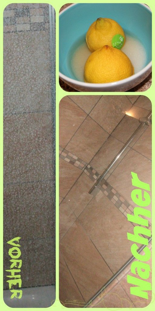 Kalk An Duschtür Aus Glas Entfernen Opruimen En Huishouden - Hartnäckige kalkflecken auf fliesen entfernen