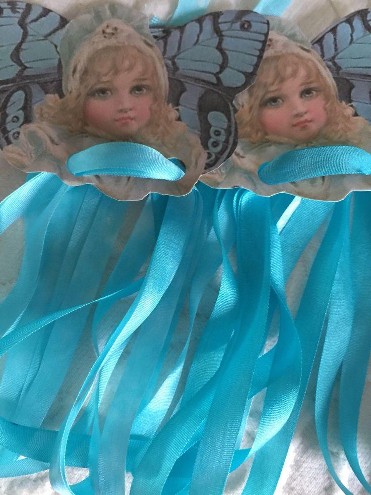 Aqua Hand Dyed Silk Ribbon 7mm 2 Yards Crazy Quilt Silk Ribbon Embroidery Wedding Multi Media by TerrisThreadArt on Etsy