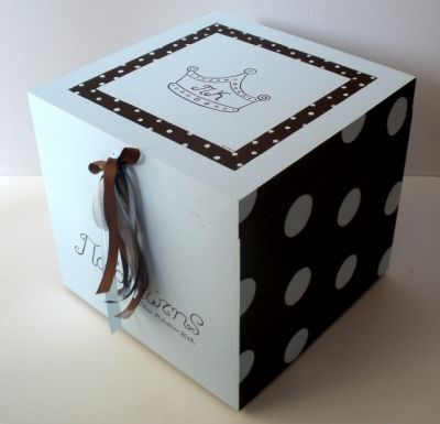 Wooden Baptism/ toy box themed Prince  at www.happyrooms.gr