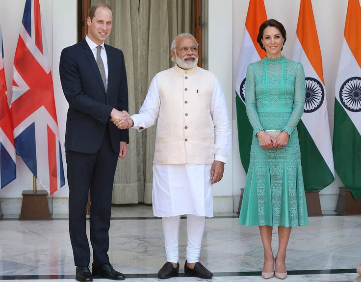 Prime Minister Narendra Modi with Prince William and Kate Middleton