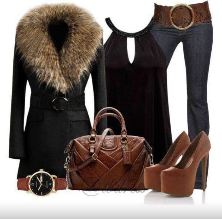 Black & Brown winter fashion