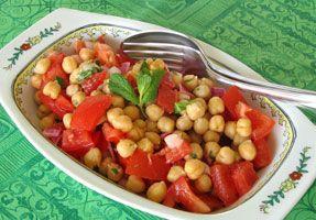 Recette - Salade marocaine de pois chiches et tomates | SOS Cuisine