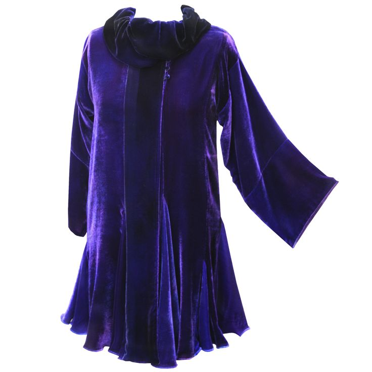 Cora Coat in Lapis Purple by Charles and Patricia Lester // Blue Moon Collection