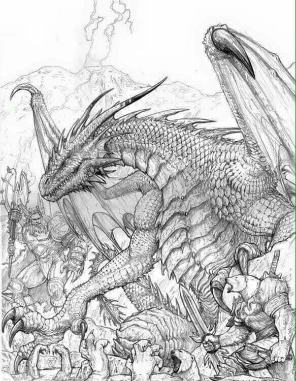 Dragon coloring page Coloring