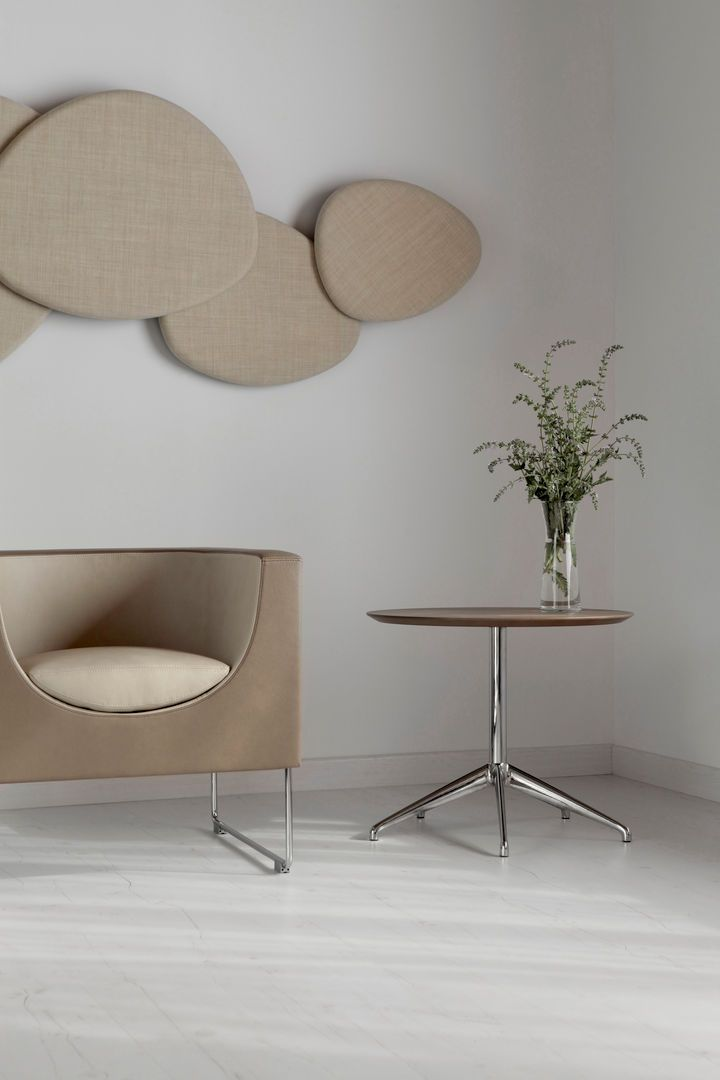 Satellite Wall Panel, Nube Armchair and Marea Table by Stua. Available from Stylecraft.com.au