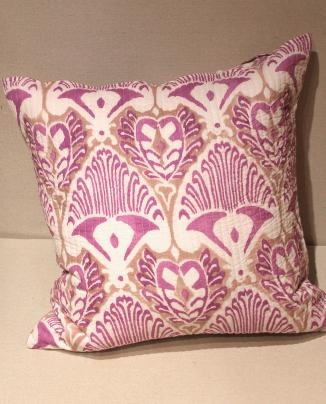 Kerry Cassill Quilted Euro Sham- Purple Fog   Nicola's Home