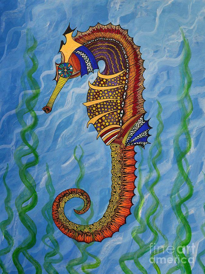 25 Beautiful Seahorse Painting Ideas On Pinterest