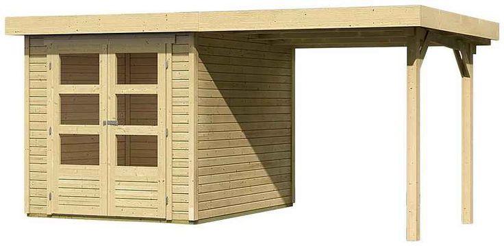 KARIBU Gartenhaus »Arnis 2«, Gesamtmaß (BxT): 433x220 cm, Inkl. Anbau