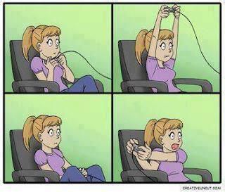 How girls play video games :)