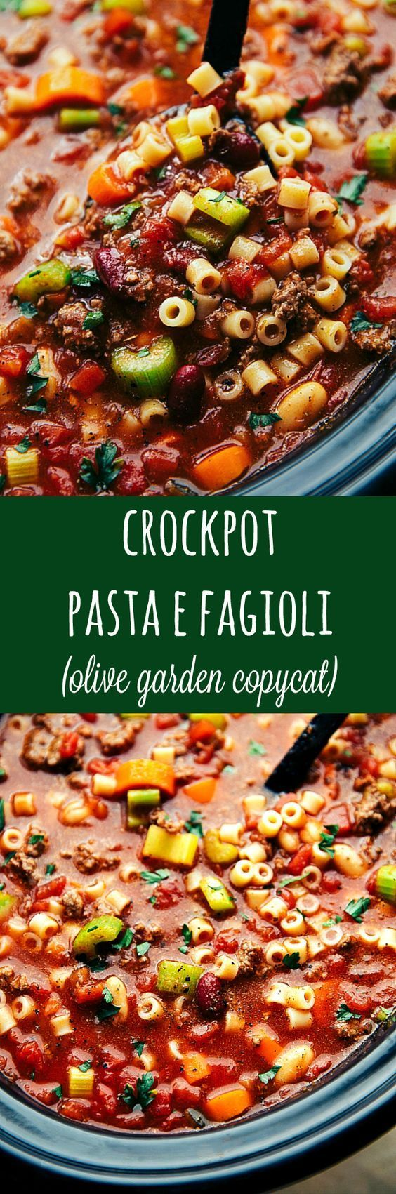 Crockpot Pasta E Fagioli {Olive Garden Copycat Recipe} (Video)