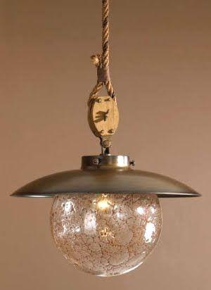 Rustic Brass Pendant Lighting Fixture