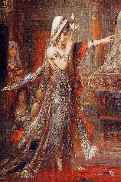 Salome Dancing Before Herod, detail; Gustave Moreau