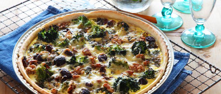 Nydelig vegetarpai med smak av blåmuggost, nøtter og brokkoli. Perfekt å severe når du har venner på besøk. Har du lite tid, bruk gjerne en ...