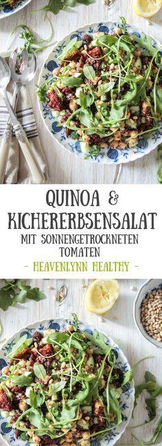 Quinoa-Kichererbsensalat mit sonnengetrockneten Tomaten
