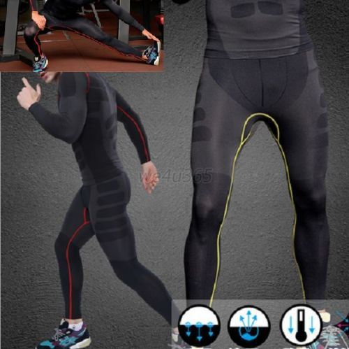 New Mens Athletic Pants Compression Running Training Base Layers Skin Sports Tights