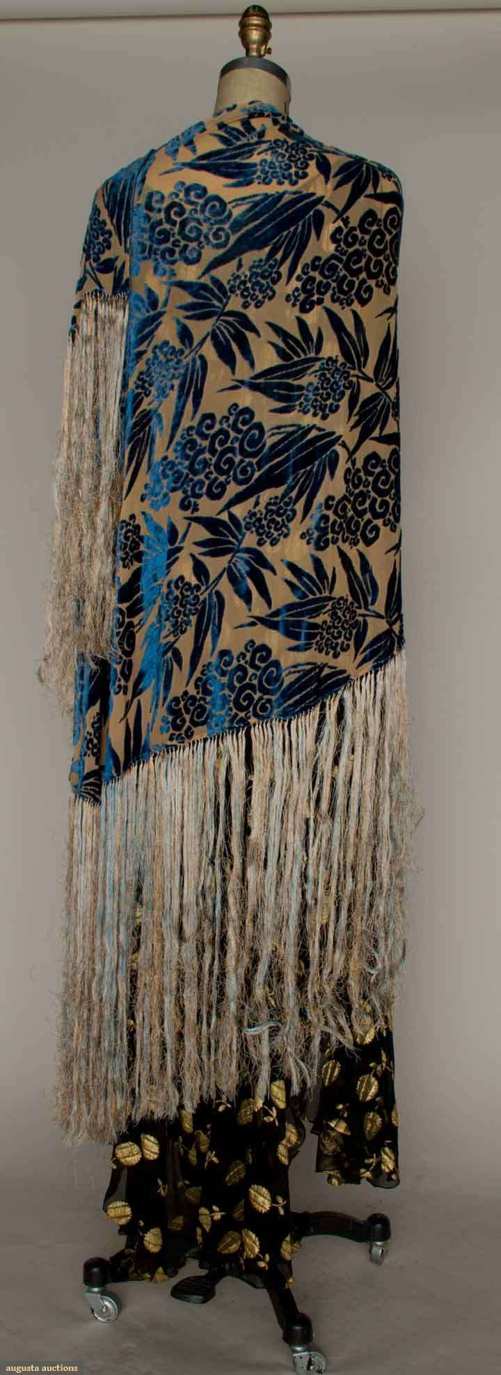 Deco Cut Velvet Shawl, 1930s, Augusta Auctions, March 21, 2012 NYC, Lot 226