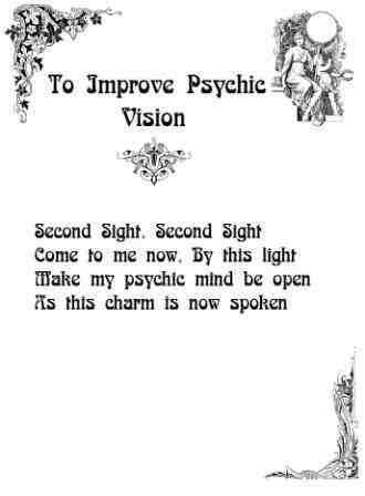 Improve Psychic Vision Chant…..Printable Spell Pages – Witches Of The Craft®