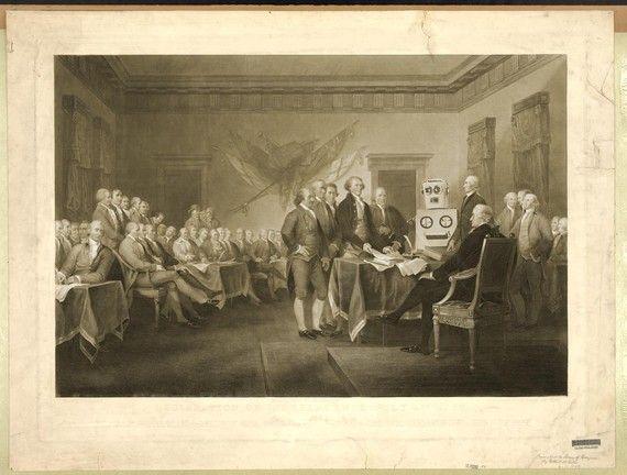 Digital Print, Declaration of Independence, Philadelphia, Robot Art, American…