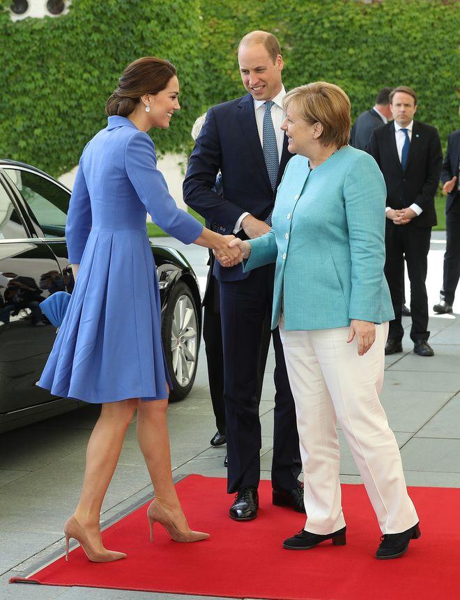 Кейт Миддлтон, принц Уильям и Ангела Меркель
