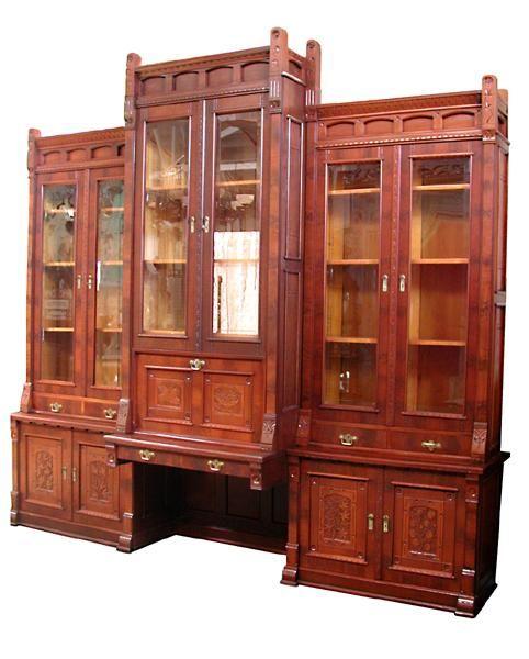 Spectacular 19th C Eastlake Bookcase Desk Rubylane