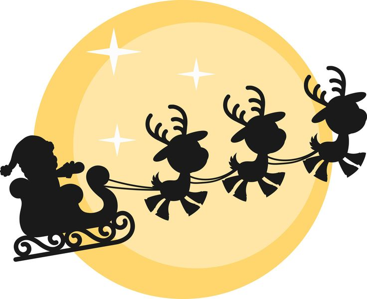 17 best ideas about Santa Sleigh Silhouette on Pinterest ...