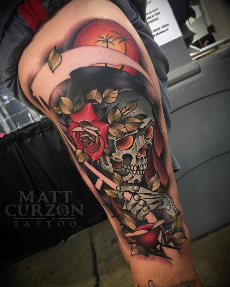 Tattoo artist Matt Curzon new school neo traditional tattoo