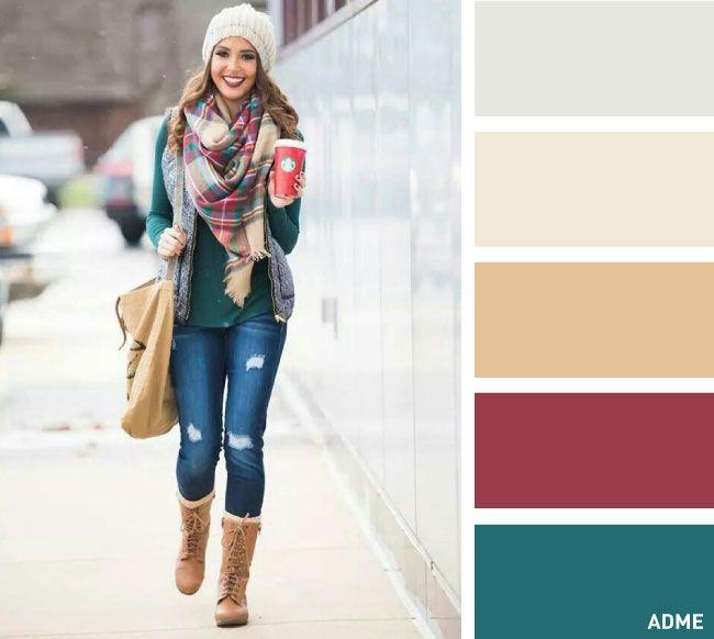 15 сочетаний цветов для шапок и шарфов