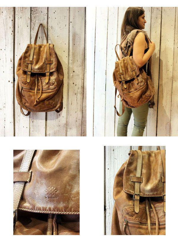 New Vintage Brown Handmade Italian Leather backpack di LaSellerieLimited su Etsy