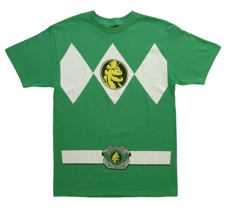 Green Power Ranger Tee - Halloween costume t-shirt