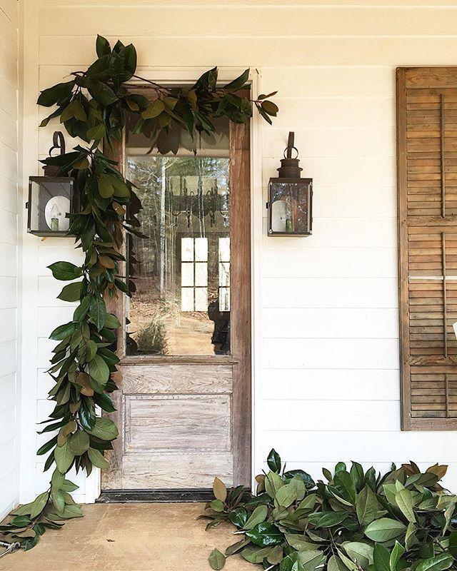 magnolia leaf garland for front door