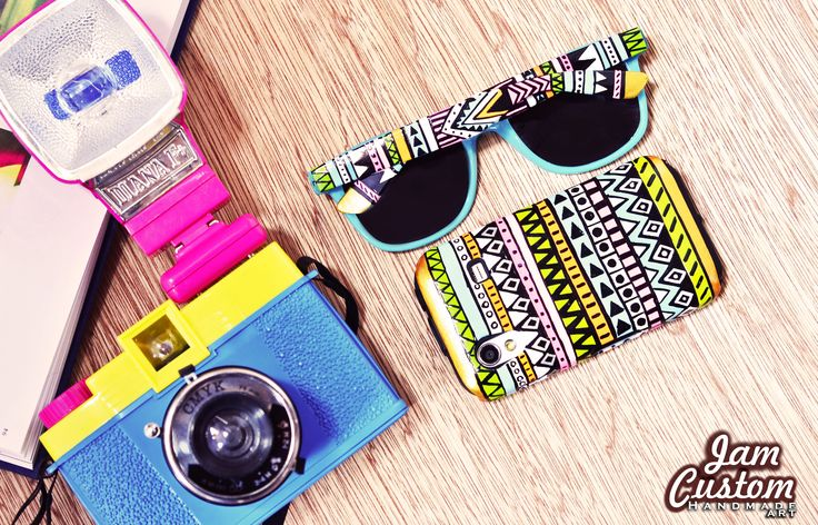 ✪H A N D M A D E A R T✪  ◈◇Sunglasses Aztec Print◈◇ ◈◆ UV 400 Protection ◈◆ — ◈◆ Samsung Galaxy Case Customized◈◆