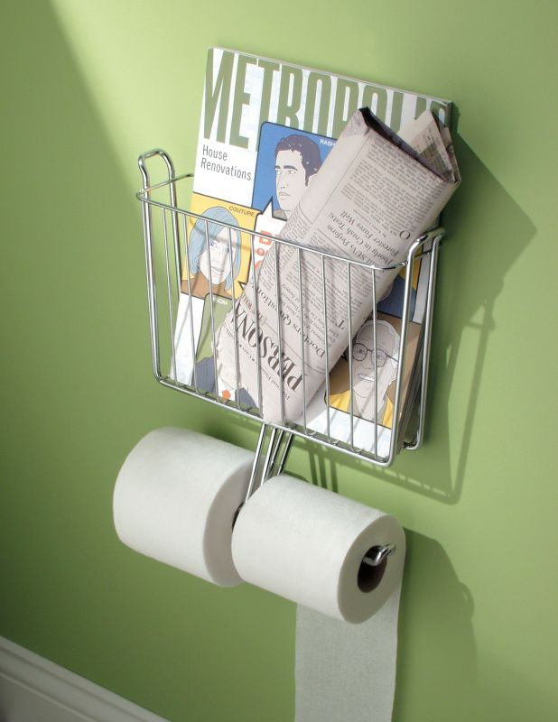 Interdesign Wall Mount Magazine Rack with Tissue Paper Holder: