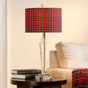 Loving this Jeffrey Banks Royal Stewart tartan table lamp.