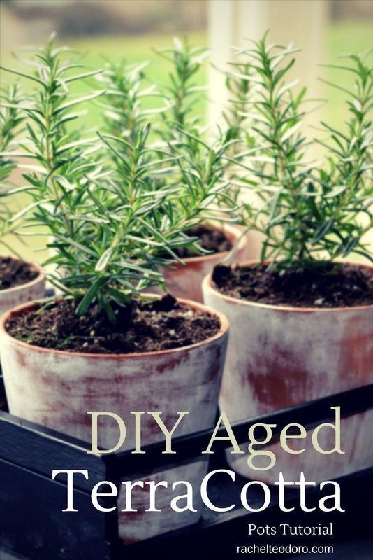 DIY Aged TerraCotta Pots