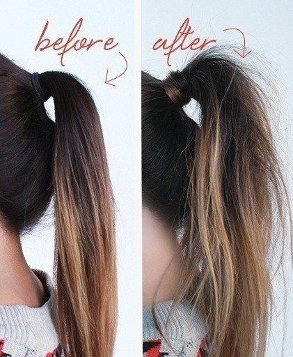 A simple step-by-step textured ponytail tutorial