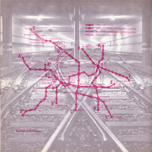 Berliner U-Bahnnetz 1958