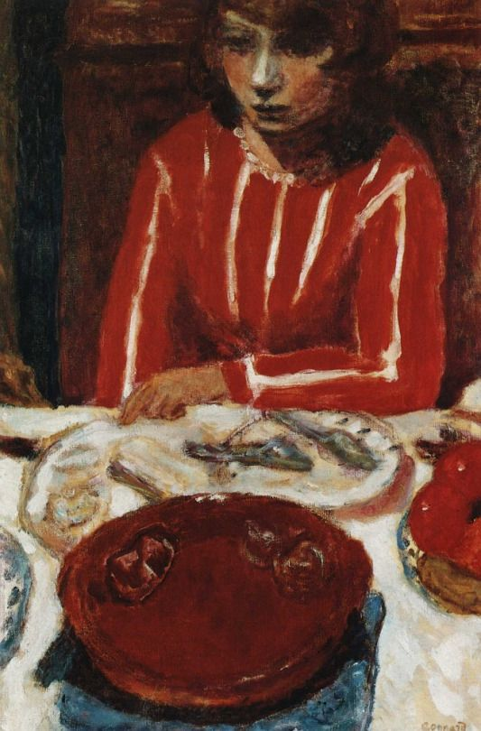 Woman at Table, Pierre Bonnard