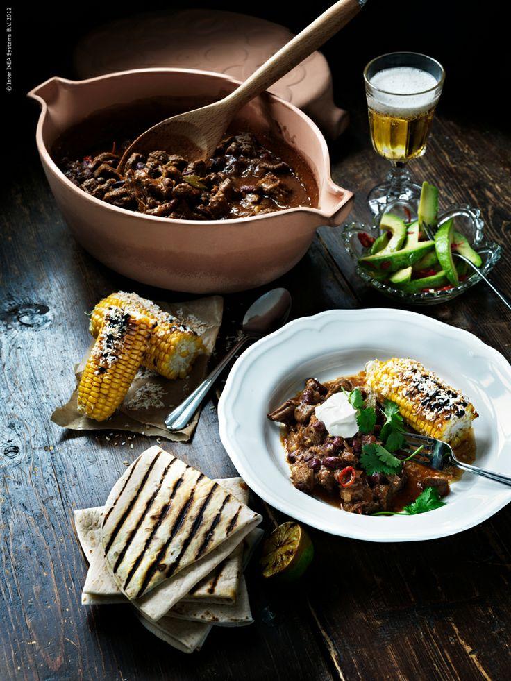 Chili con carne i STIL lergryta