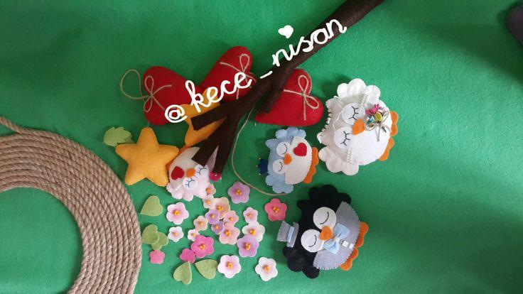 #kece #keçe #keçekapısüsü #kapısüsü #kecekapisusu #felt #feltro #fieltro #craft #crafts #owls #felt owl